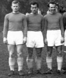 od lewej stoją: Joachim Krajczy, Ryszard Majka, Józef Gałeczka